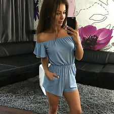 Women Fashion Summer Beach Overalls Boho Vintage Sexy Bodysuit Jumpsuits Rompers