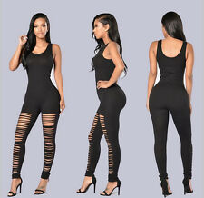 Women's Sexy Bandage Bodycon Jumpsuit Rompers Catsuit Trousers Party Clubwear