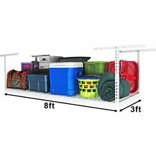 Saferacks 3' x 8' Overhead Ceiling Drop Garage Storage System Rack Shelves NEW!