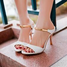 Sexy Womens High Heels Slippers Open Toe Strap Stiletto pumps Shoes