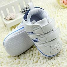 Toddler Infant Boy Faux Leather Crib Shoes Soft Bottom Sport Sneakers Prewalkers