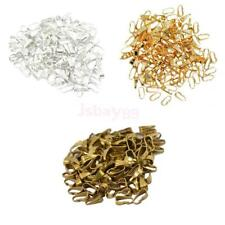 100Pcs 8mm Spring Bail Pinch Connector Clasp Pendant Findings DIY Jewelry Making