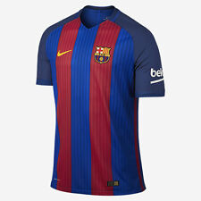 NIKE FC-BARCELONA HOME AUTHENTIC VAPOR MATCH PLAYERS JERSEY 2016-17 $160