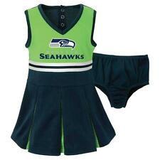 NWT Seattle Seahawks NFL Infant/Toddler Girls 2-Piece Cheerleader Set