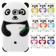3D Cute Cartoon Panda Rubber Soft Back Case Cover Skin for Samsung Galaxy S6 S7