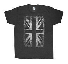 Union Jack UK Flag Man Graphic Tee American Apparel Tri-Blend Shirt Screen Print