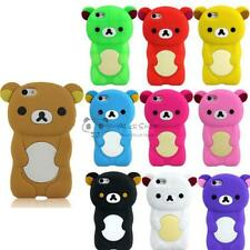 For Apple iphone 5C 3D Colorful Teddy Bear Soft Silicone Rubber Back Case Cover