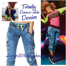 ZUMBA Get Faded Denim Dance Pants Cargos Capris Leggings SuperSoft *ALL SIZES!