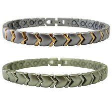 Magnetic Stainless Steel Bracelet Arrow Design for Magnetic Therapy