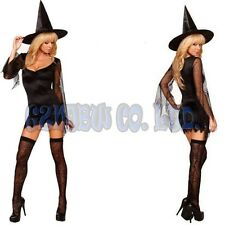 Adult Fancy Dress Sexy black witch Ladies Cosplay Costume Women Halloween Outfit