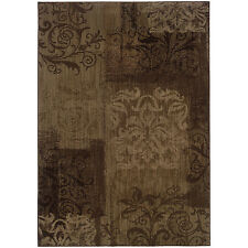 RUGS AREA RUGS CARPET AREA RUG FLOOR DECOR MODERN TRANSITIONAL BROWN RUGS NEW