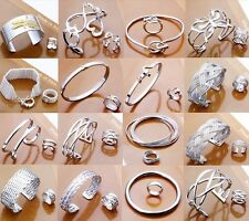 Fashion Womens Gift 925 Silver Jewelry Set Bracelet Bangle Rings Earring +Box