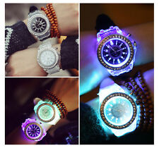 Womens  fashion ladies wrist Quartz  Crystal  Flashy watch Black and white