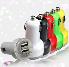 Car Charger Adaptor Bullet Dual USB 2 Port for iPod iPhone 4 5 C S Samsung