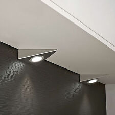 KITCHEN UNDER CABINET CUPBOARD LED TRIANGLE ROUND LIGHT COOL OR WARM WHITE