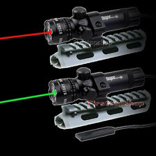 Tactical Green/Red Laser Sight Scope with Pressure Switch Picatinny Rail Mount