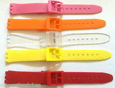 17mm QUALITY REPLACEMENT BRIGHT PLASTIC RESIN STRAP to fit SWATCH WATCH STRAP