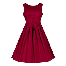 Vintage Women's Retro 1950s Cocktail Tea Party Dress High Quality Rockabilly