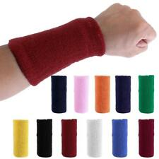 11 Colors Unisex Terry Cloth Cotton Sweatband Wrist Tennis Yoga Sweat WristBands
