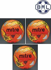 3 x MITRE IMPEL TRAINING FOOTBALLS - ORANGE - Sizes 3, 4 and 5