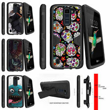 For LG K8 | Escape 3 | Phoenix 2 Clip Stand Case Sugar Skull Design