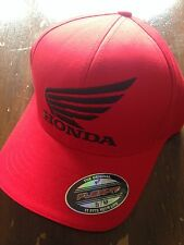 Fox Honda Flexfit Cap Hat Red Not Flat Peak MX Dirt Bike FX58317003037&38
