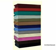 Plain Dyed Fitted Sheet / Flat sheet  Pleated Non Iron,In All Sizes NEW