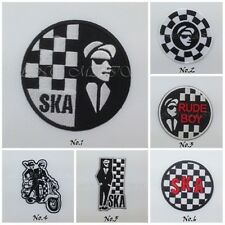 SKA TWO TONE REGGAE RUDE BOY MUSIC SEW ON IRON ON PATCH EMBROIDERED MODS LOGO