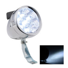Retro Vintage Bicycle Bike 6 LED Front Light Headlight with Bracket Silver/Black
