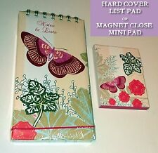 BUTTERFLY NOTES & LISTS HB JOTTER or MINI MAGNET CLOSE NOTEPAD Laura Darrington