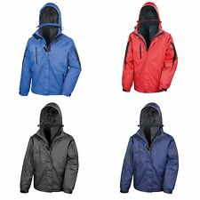 Result Mens 3 In 1 Softshell Waterproof Journey Jacket With Hood
