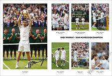 ANDY MURRAY 2016 WIMBLEDON SIGNED PRINT POSTER PHOTO AUTOGRAPH TENNIS CHAMPION