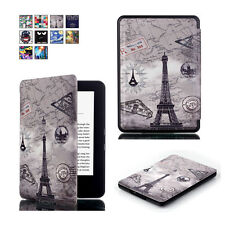 Magnetic Patterned Leather Case Cover For Kindle (8th Generation - 2016 release)