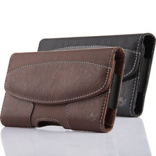 Leather Holster Belt Clip Carrying Case Horizontal Pouch For Iphone/Samsung