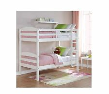 Mainstays Twin Over Twin Wood Bunk Bed Solid Wood Construction Multiple Finishes