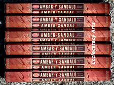 Hem Amber-Sandal Incense 20-40-60-80-100-120 Sticks You Pick Amount {:-)