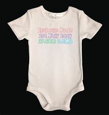 Personalised White Cotton Baby Girl One Piece