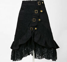 steampunk clothing party club wear black lace skirts vintage design women gothic