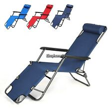 New Outdoor Lounge Chair Zero Gravity Folding Recliner Patio Pool Lounger EHE8