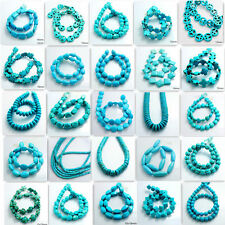 Fashion Blue Turquoise Spacer Loose Beads Charm Findings 15'' Strand