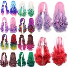 Wig Multicolor Long Curly Wavy Straight Full Wig Women's Fashion Cosplay Dress #