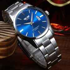 Mens Luxury Stainless Steel Band Date Analog Quartz Sports Wrist Watch NEW