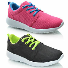 New Kids Girls Childrens Casual Lace Up Plimsolls Trainers Sneaker Shoes Size UK