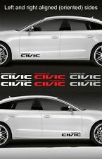 "2pcs Powered by CIVIC 15"" wide Vinyl Decal Sticker Emblem Logo Graphic for Honda"