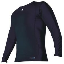 THERMAL BASE LAYER CREW TOP - BLACK - LONG SLEEVE - Brand Precision
