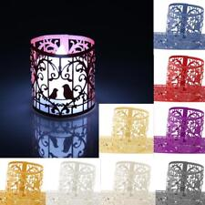 6pcs Love Birds Heart LED Cut Tea Light Holders for Wedding Party Decoration