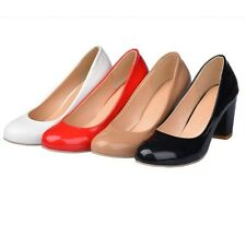 Comfort Sweet Synthetic Patent Leather High Heel Formal Lady Shoes AU Size s289