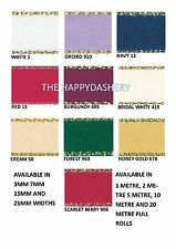 BERISFORDS 3MM GOLD LUREX EDGED SATIN RIBBON ALL COLOURS AND CHOICE OF LENGTHS