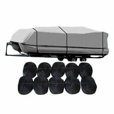 21-24 Ft 600D Waterproof Heavy Duty Fabric Trailerable Pontoon Boat Cover OY