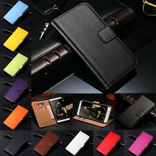Genuine Leather Flip Wallet Case Cover Card Holder For Samsung Galaxy Series New